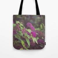 purple flower. Tote Bag