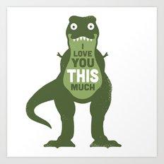 Amourosaurus Art Print