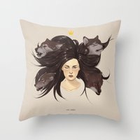 Los Lobos.  Throw Pillow