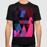 Color Story - Electric Mens Fitted Tee Tri-Black SMALL