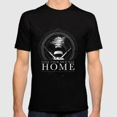 Find Your Own Way Home SMALL Mens Fitted Tee Black