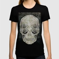 Twilight 4 Eyes Skull Womens Fitted Tee Black SMALL