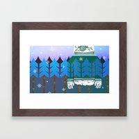 Forest Camo Framed Art Print