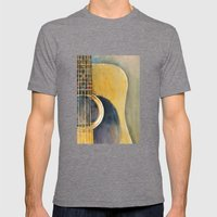 Martin Accoustic Guitar  new proportion Mens Fitted Tee Tri-Grey SMALL