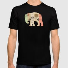 elephant Black SMALL Mens Fitted Tee