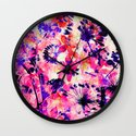 flowers and dandelions Wall Clock