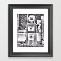 At The Track Framed Art Print