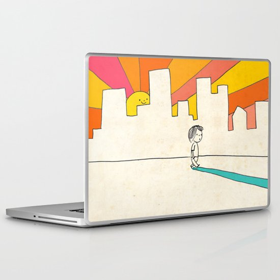 if i had eyes at the back of my head, i wouldn't have to miss the sunset on my way home Laptop & iPad Skin