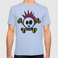 :::::::::PUNK SKULL:::::… Mens Fitted Tee Athletic Blue SMALL