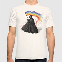 The Rainbow Side of the Force Mens Fitted Tee Natural SMALL