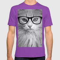 THE HIPPEST CAT Mens Fitted Tee Ultraviolet SMALL