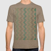 Crazy for Chevron - Vintage Slate Mens Fitted Tee Tri-Coffee SMALL