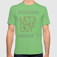 Let's make out Mens Fitted Tee Grass SMALL