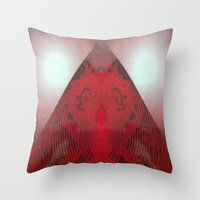 FX#412 - Red Pyramid Bri… Throw Pillow