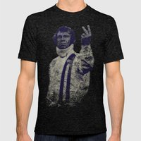 Steve McQueen- King Of C… Mens Fitted Tee Tri-Black SMALL