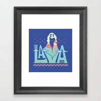 One Lava Framed Art Print