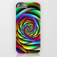 iPhone & iPod Case featuring Rainbow Spiral by Objowl