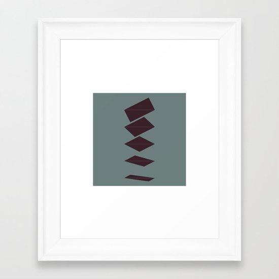 #211 Float – Geometry Daily Framed Art Print