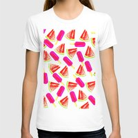 Summer Fun Womens Fitted Tee White SMALL