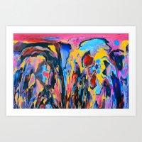 Sunset Oil Art Print