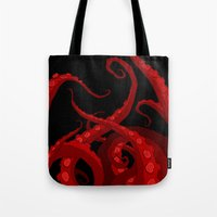 Subterranean Red Tote Bag