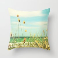 Somewhere Seaside Throw Pillow