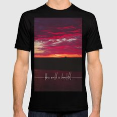 this world is beautiful Black Mens Fitted Tee SMALL