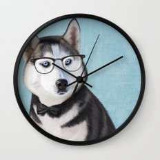 Mr Husky Wall Clock