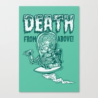 DEATH FROM ABOVE (green) Canvas Print