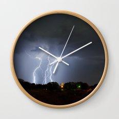 Lightning Triple Play Wall Clock