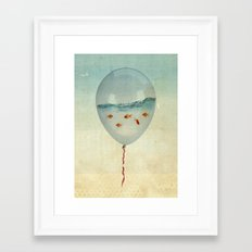 BALLOON FISH-2 Framed Art Print