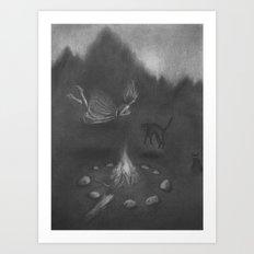 Familiar Fire Art Print