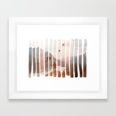 Up Stream Framed Art Print