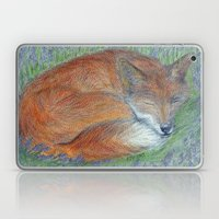 A Sleepy Fox  Laptop & iPad Skin