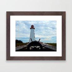 Sailing to Point Prim Lighthouse Framed Art Print
