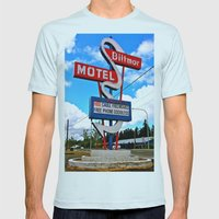 Classic Motel Sign Mens Fitted Tee Light Blue SMALL