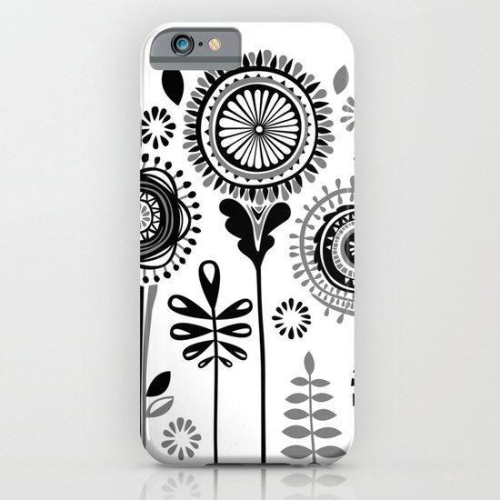 Folksy Flowerheads iPhone & iPod Case