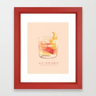 Framed Art Print featuring Old Fashioned by Nan Lawson