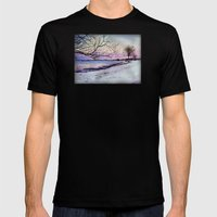 Winter Evening In Racine Mens Fitted Tee Black SMALL