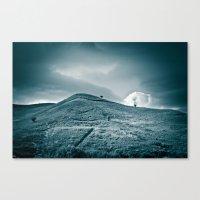 Moody hill Canvas Print