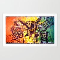 Triumvirate Art Print