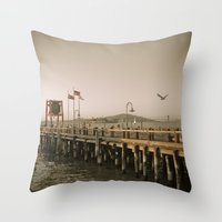 View Of Alcatraz - The R… Throw Pillow