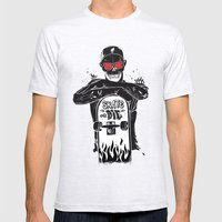 SKATE OR DIE Mens Fitted Tee Ash Grey SMALL