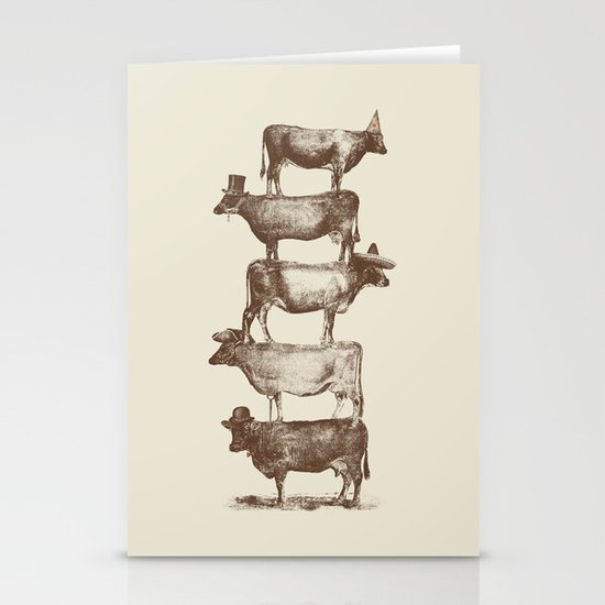 Cow Cow Nuts Stationery Card