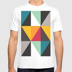 Triangles # 2 Mens Fitted Tee SMALL White