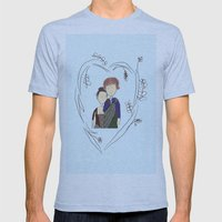 Outlander Mens Fitted Tee Athletic Blue SMALL