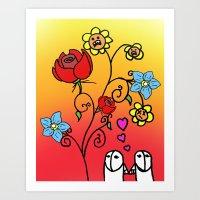 Art Print featuring Love by Gnarleston