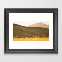 Morning Run Framed Art Print