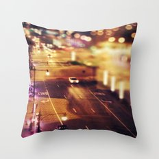 Blurred Lights Throw Pillow