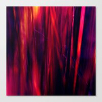 hot grass abstract II Canvas Print
